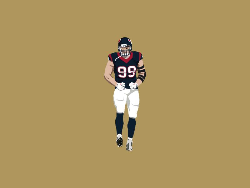J J Watt texans houston challenge helmet touchdown artist art success game illustration nfl design illustrator vector