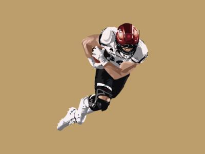 Michael Kopay football design illustrator vector