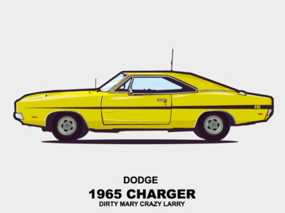 Dodge Charger car illustration design movie