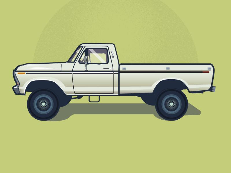 Truck vector illustrator design