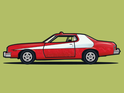 Gran Torino 74 vector illustrator design