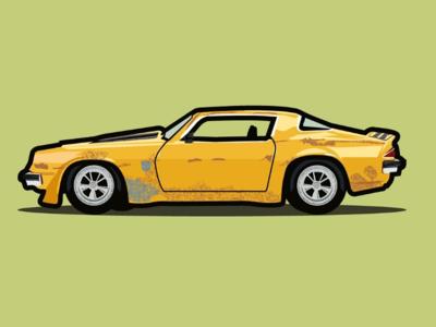 Chevrolet Cámaro vector illustrator design
