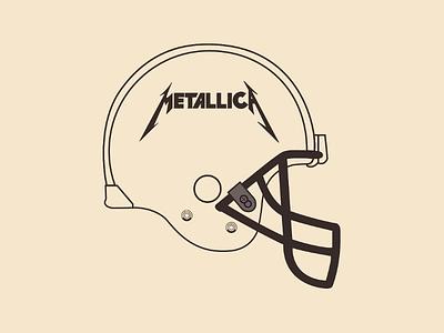 Metallica Helmet vector illustrator design