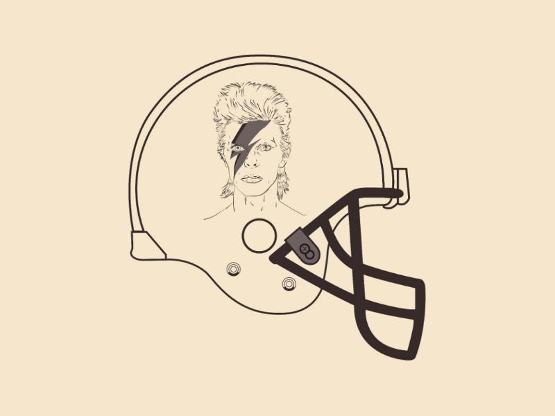 Bowie Helmet vector illustrator design