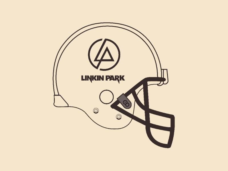 Linkin Helmet vector illustrator design