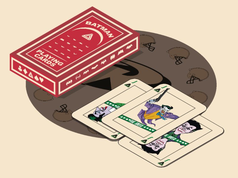 Batman playing cards vector illustrator design