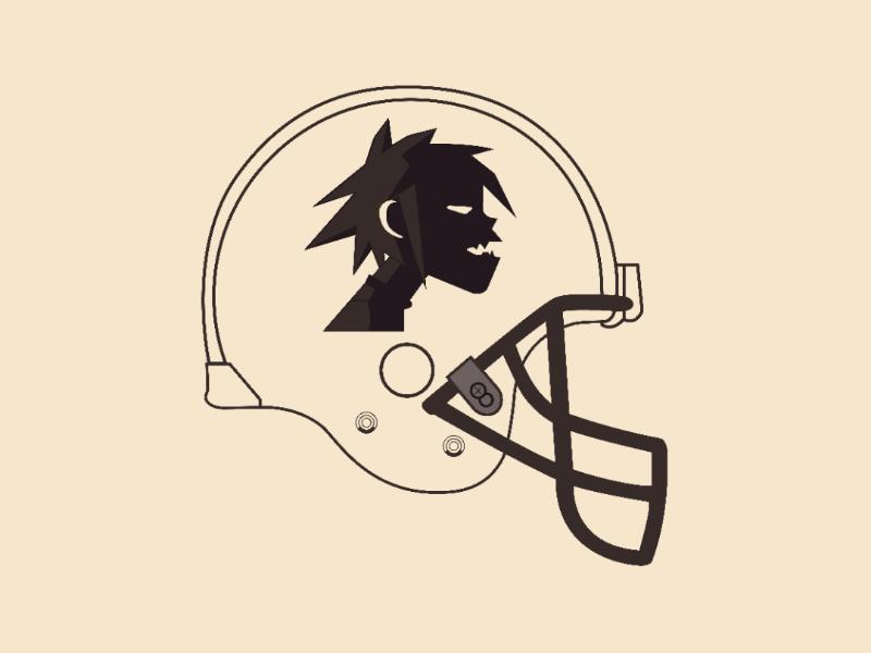 Gorillaz one Helmet vector illustrator design