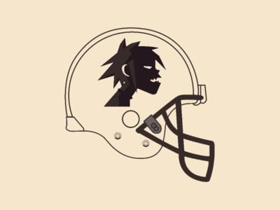 Gorillaz one Helmet