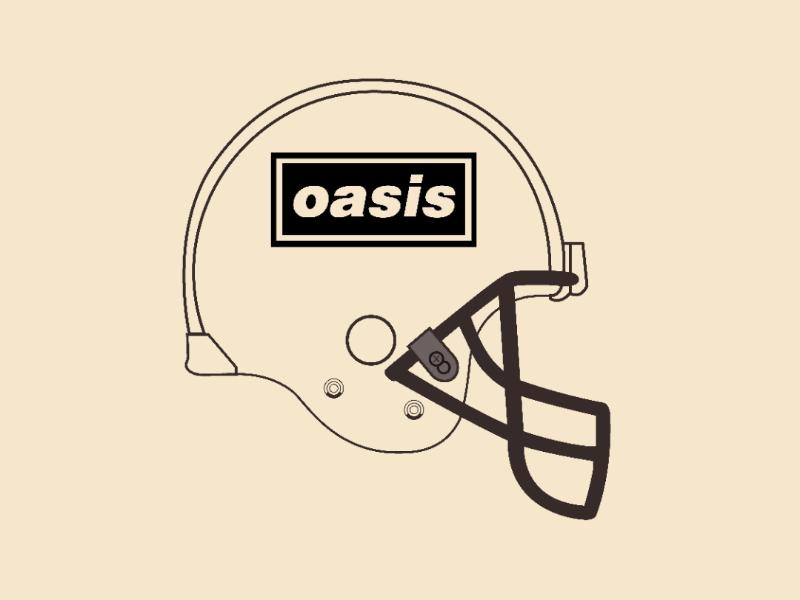 Oasis helmet vector illustrator design
