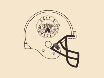 Guns helmet