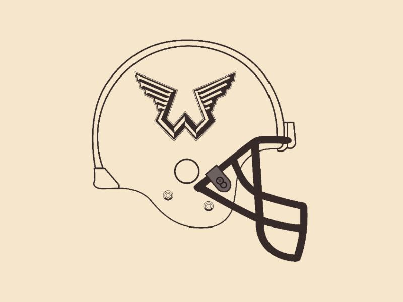 Wings helmet vector illustrator design