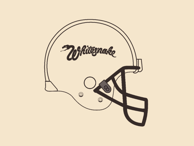 Whitesnake helmet vector illustrator design
