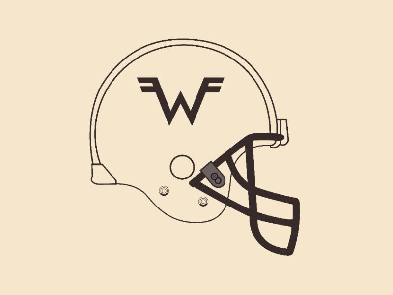 Weezer helmet vector illustrator design