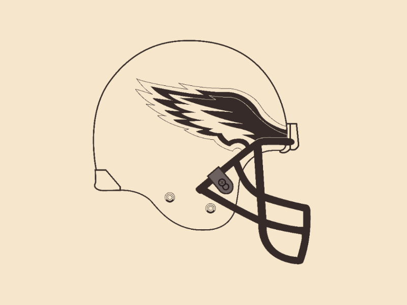 Eagles helmet vector illustrator design