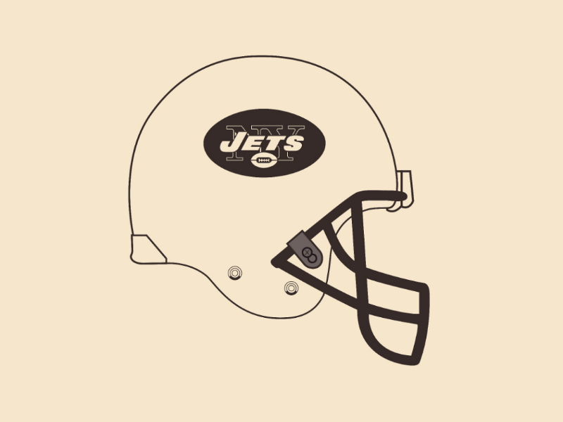 Jets helmet vector illustrator design