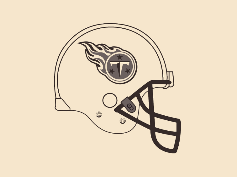 Titans helmet vector illustrator design