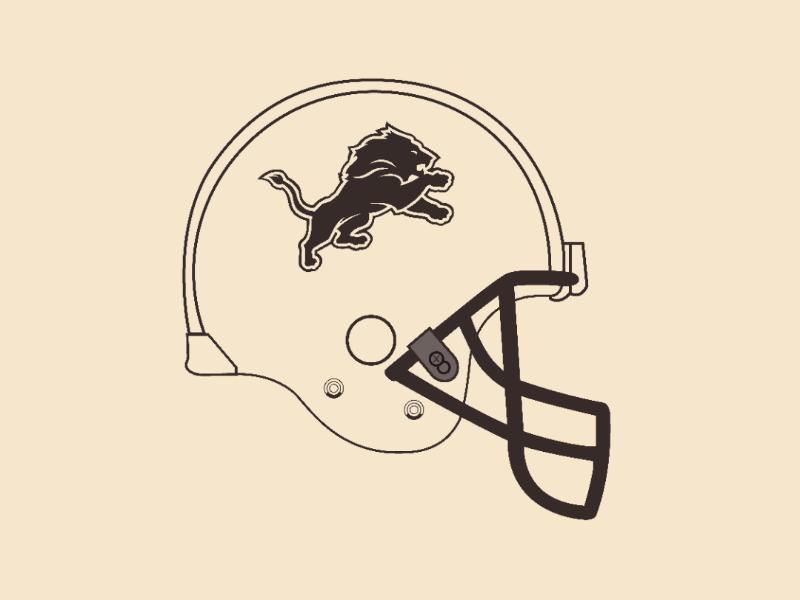 Lions helmet vector illustrator design