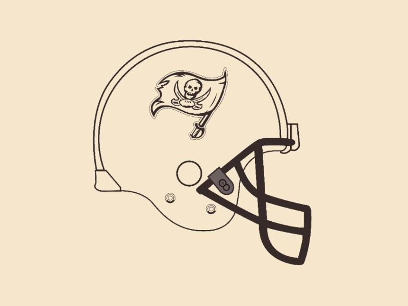Buccaneers helmet vector illustrator design