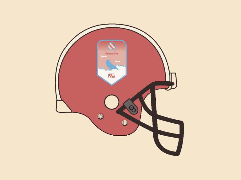 Fresnillo helmet vector illustrator design