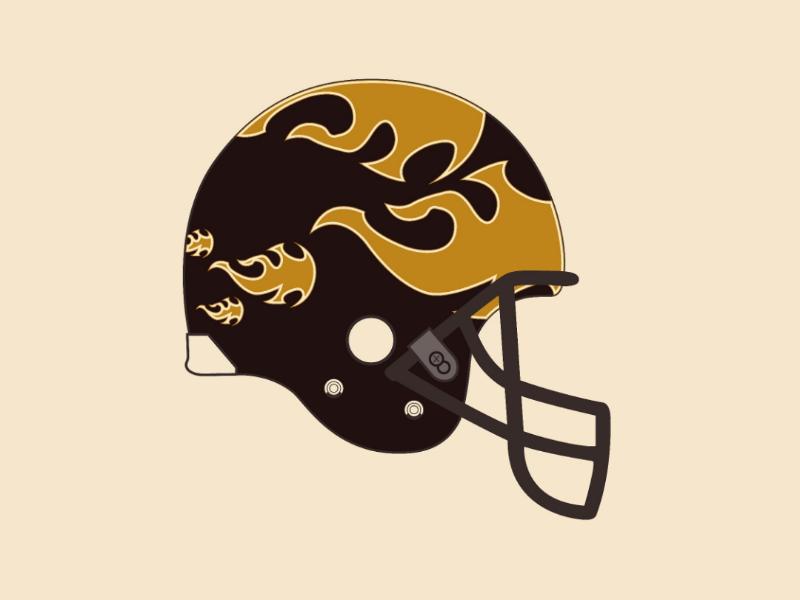 Fire helmet vector illustrator design