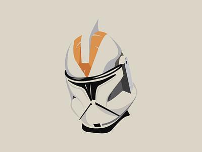 Clone trooper color art clonetrooper starwars space design illustrator vector