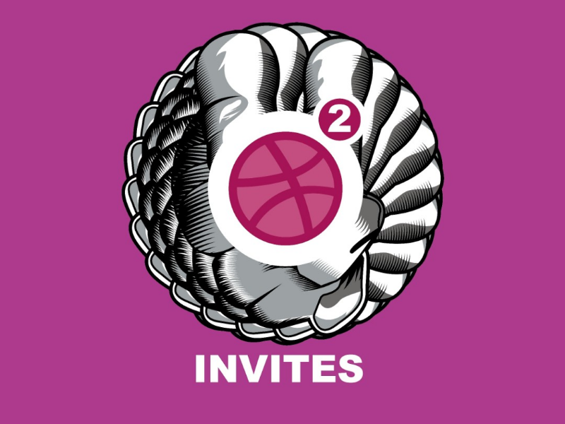 Dribbble invites invite dribbble dribbblers design illustrator vector