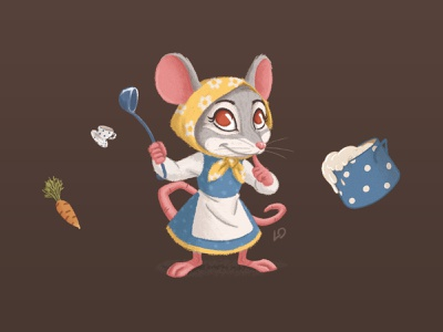 Chef Little Mouse / Teremok culinary chef cereal pan teremok cup cook photobook kindergarten kids illustration kids illustrator illustrations deadstiks cubs characters mouse animals