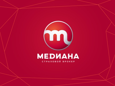 Mediana Logo red insurance insurance company insurance broker graphic design design logotype logo