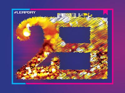 29 February Leap Day logotype lettering leapyear leap year mask type letter rémi rémi rosinski typography illustration calendar rosinski leapday leap day