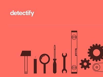 Rebranding wip logo tools vector simple security header flat