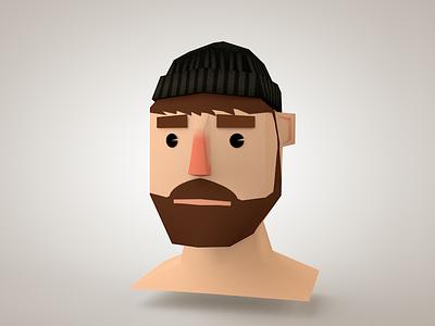 Lumberjacker Avatar 3d game low poly hipster lumberjack bear cinema head