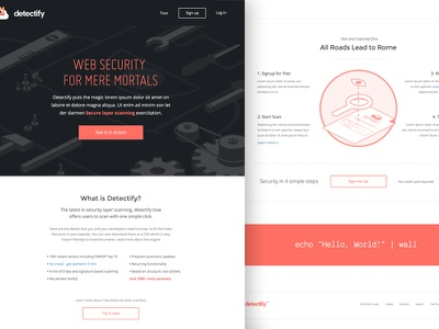Detectify Web Start Small security web design detectify layout code audit style tool