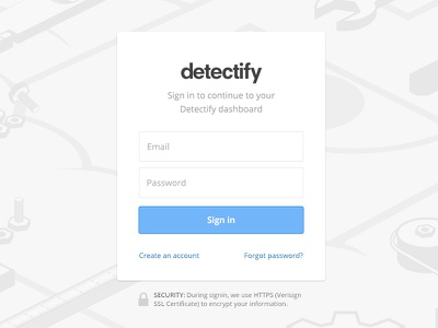 Complete signup process signup process ux detectify security login sign in input web dashboard