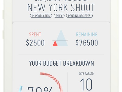 Budgie - The Budget Tracker budget tracker ios iphone flat money finance stats graph time