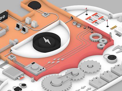 Detectify Header security computer web startup detectify logo 3d header