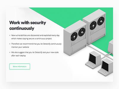 Terminals web startup security logo header detectify computer 3d