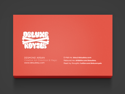 deluxe royale business card back by desmond arsan dribbble - Back Of Business Card