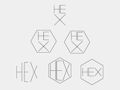 Node Knockout Logo WIP node.js knockout node wip logo hairline thin type logotype hex hexagonal hexagone