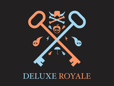 Deluxe Royale Logo Tweaked for HEX Game hexagone hexagonal hex logotype type thin hairline logo wip node knockout node.js color colours gameplay game identity web design web