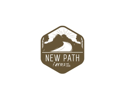 New Path Farms Logo crest farm logo