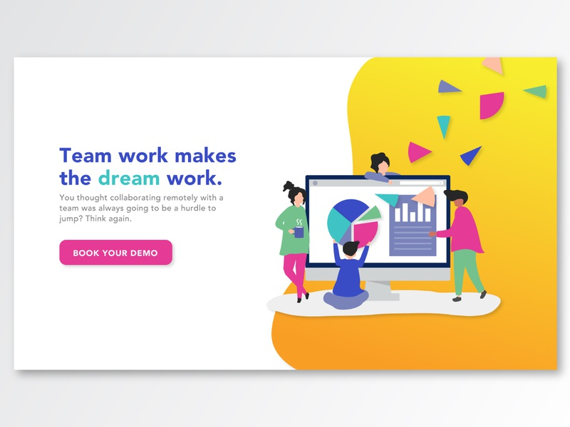 Bright Gradient UI landing page gradient illustration ux ui