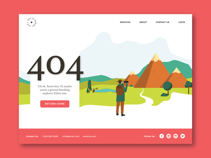 Illustrated 404 Page 404 page daily ui challenge daily ui 008