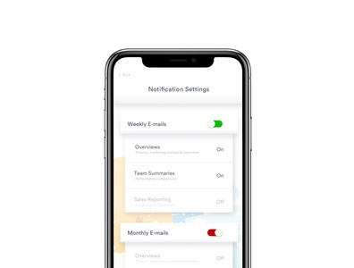 Simple Settings Screen ux design settings ui iphone ui