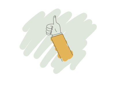 Thumbs up illustration