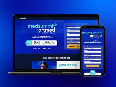 MedSummit Artmed - Landing Page event education medicine landing page design