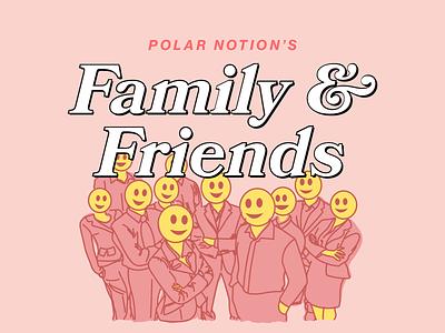 Family & Friends website brand identity ui ux app design web vector app icon branding adobe logo typography design type collage illustration