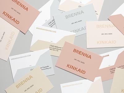 Brenna Kinkaid print logo branding brand identity typography design type