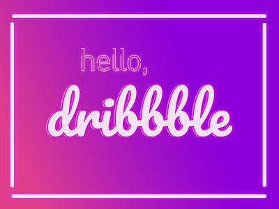 Dribbble Neon Debut text neon debut