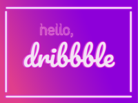 Dribbble Neon Debut