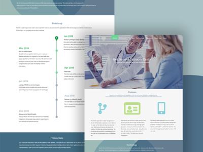 Web project for health blockchain startup health timeline minimalist blockchain